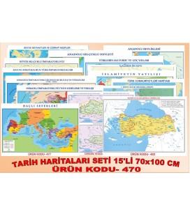 TARİH HARİTALARI SETİ (15'Lİ SET 70X100 EBAT)