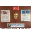 ATATÜRK KÖŞESİ 5'Lİ SET SARI ÇERÇEVELİ BÜYÜK BOY 56X75 CM