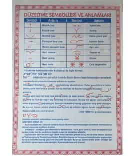 DÜZELTME SEMBOLLERİ 50X70