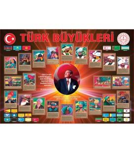 TÜRK BÜYÜKLERİ KÖŞESİ 70X100