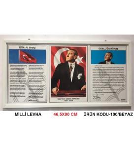RENKLİ ÇERÇEVE MİLLİ LEVHA 50X90 CM