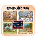 MEVSİM ŞERİDİ 5 PARÇA 35X50