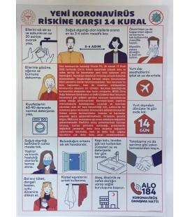KORONAVİRÜS ÖNLEM PANOSU 50X70 CM