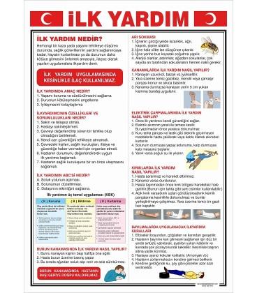 İLK YARDIM PANOSU 50X70