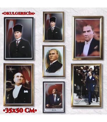 35X50 EBAT ATATÜRK RESİMLERİ ÇERÇEVELİ MODELLERİMİZ