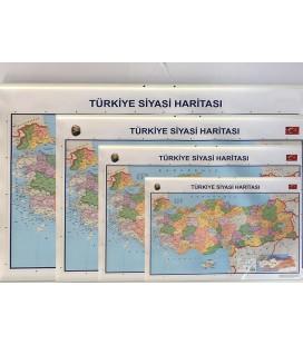 TÜRKİYE HARİTASI (SİYASİ&FİZİKİ-ÇITALI)