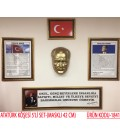 ATATÜRK KÖŞESİ 5'Lİ SET ALTIN VARAK ÇERÇEVELİ