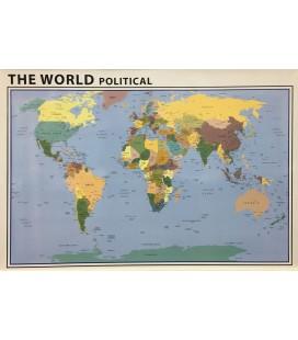 İngilizce Dünya Siyasi Haritası 70x100 CM