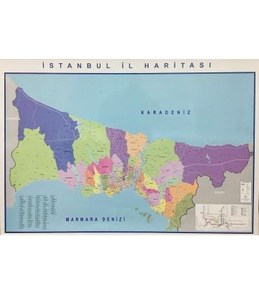 İSTANBUL İL HARİTASI 70X100
