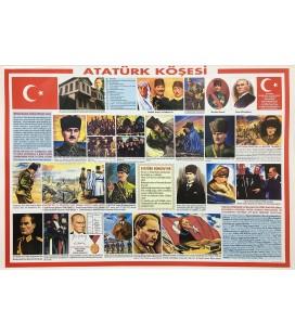 ATATÜRK KÖŞESİ 50x70 VEYA 70x100 CM