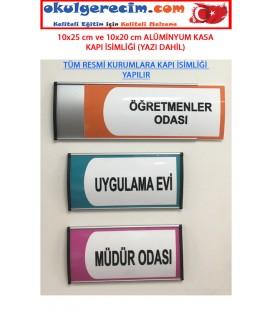 Sınıf Tabelası Kapı İsimliği Alüminyum Çerçeveli