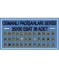 OSMANLI PADİŞAHLARI SERİSİ (36 LI SET)(35X50 EBAT)