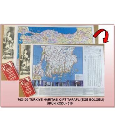TÜRKİYE KARAYOLLARI HARİTASI KATLAMALI 70X100
