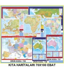 KITA HARİTALARI SETİ 70X100 EBAT 10 ADET
