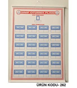 Sınıf Oturma Planı 50x70 Ebat