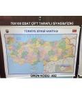 Türkiye Siyasi ve Fiziki Haritası